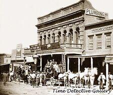 Stagecoach at Wells Fargo, Virginia City, Nevada - 1866 - Historic Photo Print
