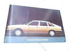 Lancia Gamma Berlina Coupé sales commercial brochure prospekt catalogue