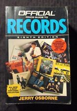 1988 Official Price Guide RECORDS Vinyl by Jerry Osbourne 8th Ed. FN