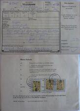 """DDR MEF Telegramm 3x MiNr 3236 """"85 Pfg Leipz. Messe"""" Dahlen 1.9.89"""