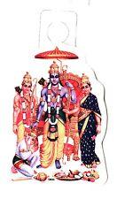 Traditional Ram Darbar Paper Adhesive Sticker – Hindu Religious Sticker