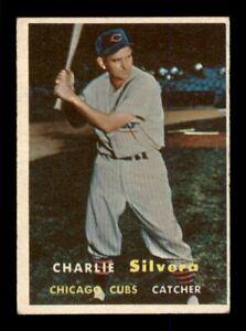 1957 Topps Set Break # 255 Charlie Silvera VG *OBGcards*
