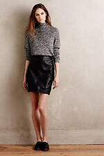 NEW Anthropologie Downtown Vegan Leather Mini Skirt by Mo Vint $128 size XS