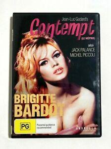 Contempt - 1963 French Jean-Luc Godard Drama - Brigitte Bardot - RARE R4 DVD