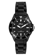 S.Oliver Women's Watch So 2295 PQ Black Wrist Watch Silicone Bracelet