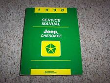 1998 Jeep Cherokee Shop Service Repair Manual Limited SE Sport Classic 4.0L 4WD
