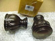 """Kirsch 1831931 Artemis Finial For 1 3/8"""" Drapery Rods Caramel Bronze (Qty 2) D-7"""