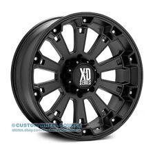 """20"""" XD Series Misfit Black Rims FreePasser 33X12.50R20 Off Road Wheels and Tires"""