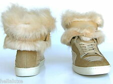 Puma ALEXANDER McQUEEN FUR JOUSTESSE Hi Sneaker Boot Shoes WEAR 2 WAY Women sz 9