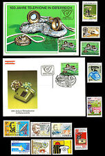 History of telephone. Collection of stamps, envelope & post card. MNH