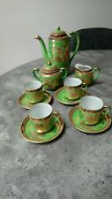 Chinese teaset Green - 4 cups and saucers, sugar bowl and teapot