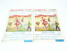 Vintage 2 The Sound Of Music Sheet Music Books Climb Ev'Ry Mountain Vocal Duet