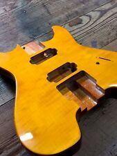 NEW HEADLESS 2 PIECE MAHOGANY GUITAR BODY Natural HH (steinberger GM 7 Style)