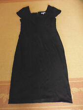 LADIES CUTE BLACK SLEEVELESS POLYCOTTON DRESS BY TABLE EIGHT - SIZE 10 - CHEAP