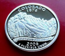 "SILVER PROOF 2006 S USA COLORADO ""Rocky Mountains"" SILVER QUARTER w HOLDER"