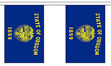 OREGON U.S. STATE BUNTING 9 metres 30 flags Polyester flag