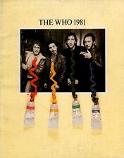 THE WHO 1981 FACE DANCES TOUR CONCERT PROGRAM BOOK / ROGER DALTREY