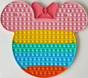 XL Minnie Mouse Push it Bubble Pop Fidget Sensory Toy ADHD Stress Reliever Toys
