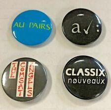 Lot of 4 Original UK Buttons Comsat Angels, A Certain Ratio, Au Pairs PINS Punk