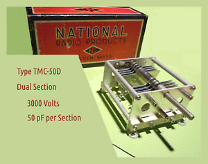 National Transmitting Variable Capacitor - Dual Section 50 pF per Section