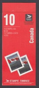 CANADA BOOKLET BK137b 42c x 10 FLAG AND HILLS, DOMESTIC RATE FOR TIME PERIOD