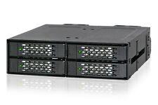 "Icydock MB699VP-B ToughArmor Rugged Metal 4 Bay 2.5"" NVMe U.2 SSD External 5.25"""
