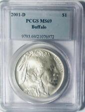 2001-D - Silver American Buffalo Commemorative Dollar - PCGS - MS-69 Certified
