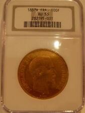 France 1857 A Gold 100 Francs NGC AU-53 Napoleon 3