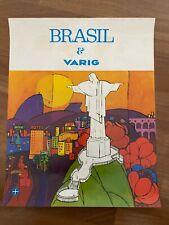 Manifesto poster AFFICHE,Brasil VARIG BRAZILIAN AIRLINES RIO  JANEIRO,CORCOVADO