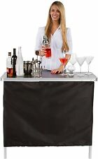 Portable Bar Table - Two Skirts - Carrying Case - by Trademark Innovations