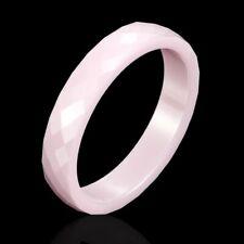 4mm Ceramic Ring Light Pink Women Jewelry Engagement Wedding Band Rings