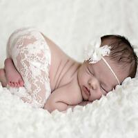 Sweet Newborn Baby Girl Tutu Skirt & Flower Headband Photo Prop Costume Outfit