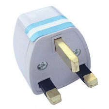 1XTragbare US AU EU Europe to UK Power Socket Plug Adapter Travel Converter FE·
