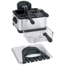 Maxam Stainless Steel 4 Quart Electric Deep Fryer With Enamel Inner Pot