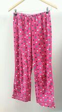 Tu Pink Pyjama Bottoms Size 10 Polkadot Fleece <J1603