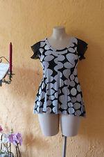 LAGENLOOK: TRAUM Tunika Shirt RIMINI 42/44 (3) NEU! grau/schwarz A-Form Stretch