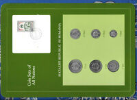 Coin Sets of All Nations Romania 1966 - 1982 UNC Nasturel Stamp