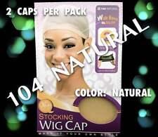 QFITT STOCKING WIG CAP NATURAL COLOR  1 PACK COMES W/ 2 CAPS # 104 NATURAL