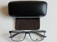 Brand New Nike Square Matte Dark Gray Men's Prescription Eyeglass Frames
