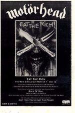 "14/11/87pg25 Single Advert 7x5"" Motorhead, Eat The Rich"