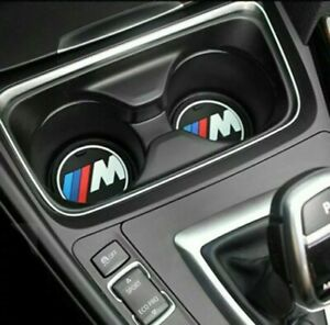 2 x BMW MSport Silica Gel Anti-Slip Cup Holder Mats 1 2 3 4 5 Series F10 F20 F30