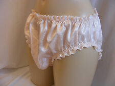 """SISSY BOY  FRILLY PEACH VTG STYLE LINGERIE PANTIES KNICKERS W/HIP 28""""-42"""""""