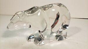 Large Crystal Polar Arctic Bear Sculpture Paper weight