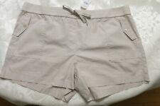 NEW Ann Taylor Loft Sz XL Tan Khaki 100% Cotton Cargo Shorts Drawstring