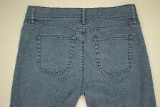 Gap Legging Jeans Women's Size 28 / 6 Skinny Gray Snakeskin Pattern Denim