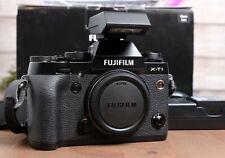 Fujifilm Fuji X-T1 Camera Black Body w/Flash, Strap, Batteries, Charger & Box