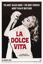 THE SWEET LIFE Movie POSTER 27x40 B Marcello Mastroianni Anita Ekberg Anouk