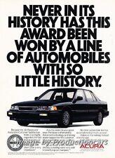 1987 1988 Acura Legend Sedan -  Original Advertisement Print Art Car Ad J761