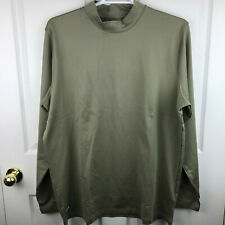 New NWT Men's Under Amour Tactical Infrared Coldgear Mock Shirt Brown Size 3XL