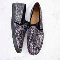 Joie Kidmore Snakeskin Skate White Black Sneakers Shoes Size EU 41 US 11 Womens